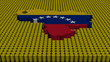 Venezuela map flag with oil barrels illustration