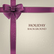 Elegant holiday background with bow and space for text. Vector i
