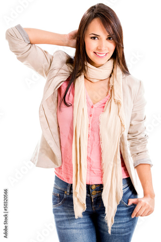 Confident casual woman