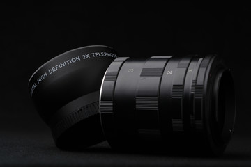set of extension tube used for macro photography