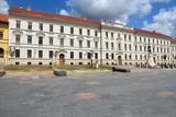 Pecs, Hungary - municipal building at Kossuth Square poster