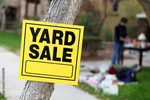 Leinwanddruck Bild Yard Sale