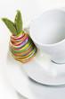 Kaffeetasse mit Osterdeko