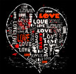 heart with typo, love concept,vector