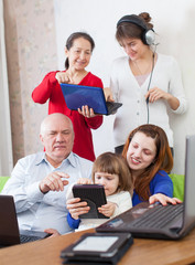 n family uses few various electronic devices