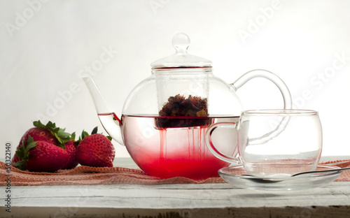 strawberry tea infusion