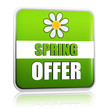 spring offer green label with flower
