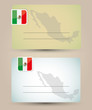 business card with flag and map of Mexico