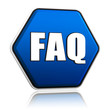 faq hexagon button