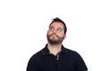 Pensive bearded men in black