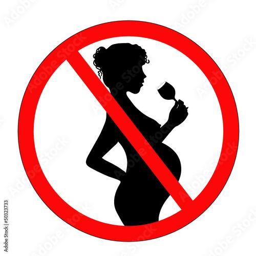 """Verbotsschild """"Schwangere Frau trinkt Alkohol"""""""