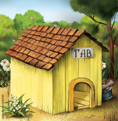 Yellow Dog House. Illustration.