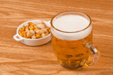 Beer with assorted nuts
