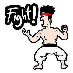 Fight cartoon