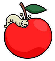 Worm apple