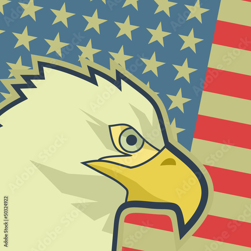 Eagle flag USA