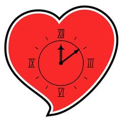 Red love clock