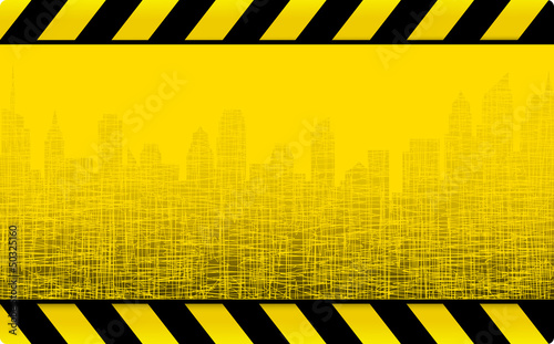 grunge construction background with city - 50325160