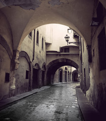 Narrow street in Florence