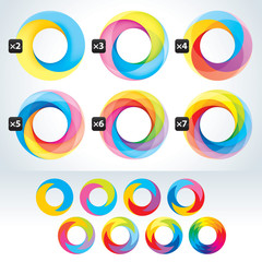 Set of abstact Infinite loop signs template. Corporate icons