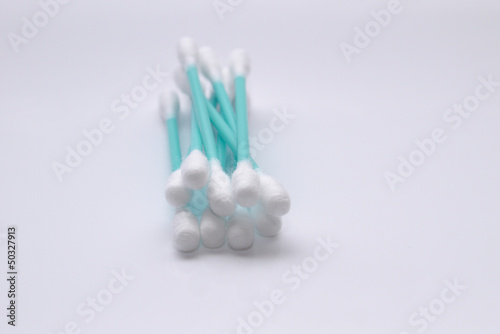 Blue cotton swab