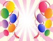 Party balloons in different colors