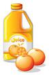 A gallon of orange juice