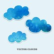 Vector clouds. Design Elements.
