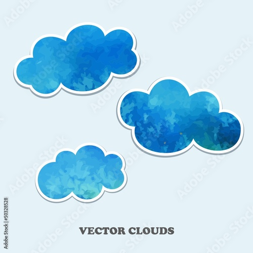 Aluminium Hemel Vector clouds. Design Elements.