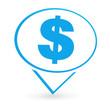 dollars sur signet bleu