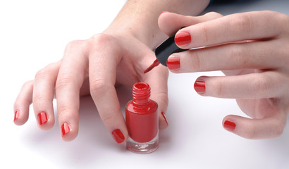 Smalto rosso per unghie - Rands with red nail on nails