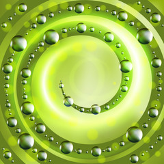 Abstract ecology green background