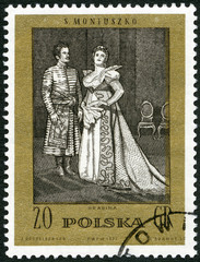 "POLAND-1972: shows Scene from Opera by Moniuszko: ""The Countess"""