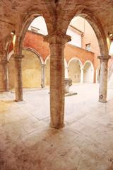 old enclosed court in Zadar, Croatia
