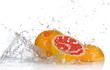 Grapefruits with Splashing water