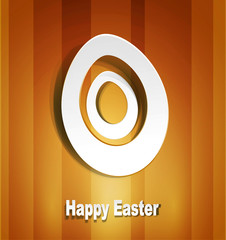 Vector background with Easter egg 3d