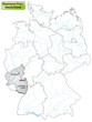 Landkarte von Deutschland und Rheinland-Pfalz