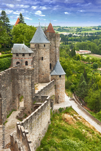 fortress Carcassonne (France, Languedoc)