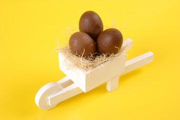 Easter egg white pushcart