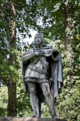 sculpture of knight or prince without arm