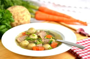 Markklößchen Suppe