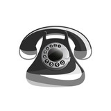 Vector illustration of Icon of old phone. Easy to edit