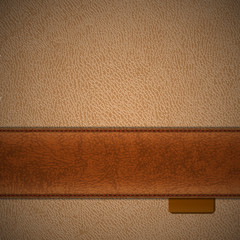Brown leather background with copyspace - eps10