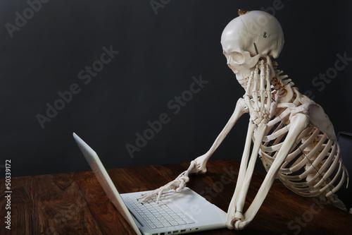 skelett am computer - 50339172