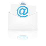 Open envelope with email. Vector illustration.