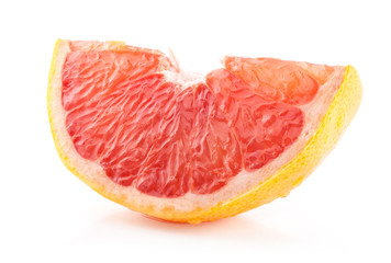 Slice of Grapefruit isolated on white background