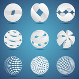 Abstract vector 3d templates to your own logo