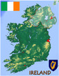 Ireland Europe national emblem map symbol motto