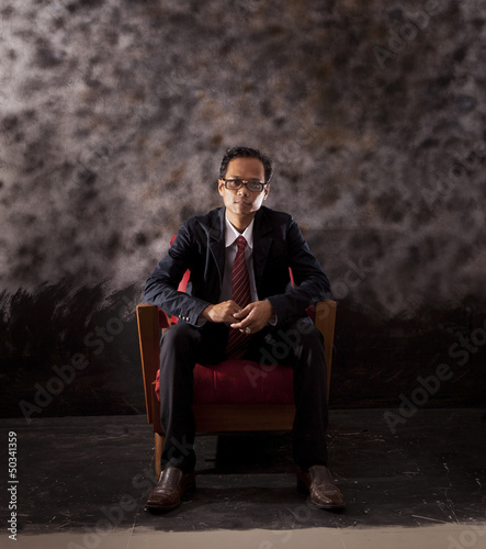 face of serious business man