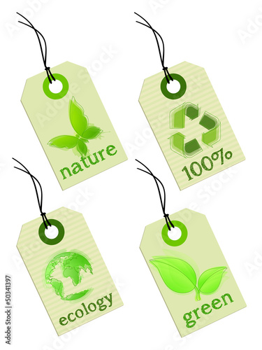 Ecology tag - green energy